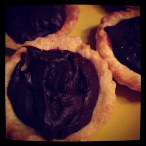 Sam's gluten-free chocolate and orange tarts