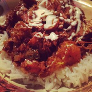 Turkey, butternut squash and tomato chutney curry