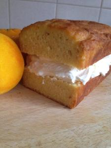 My gluten free orange pound loaf with fresh orange cream
