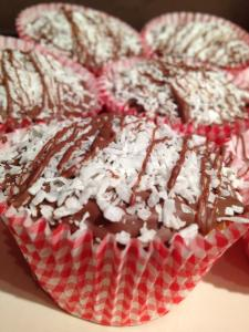 Sam's gluten free coconut cupcakes with milk chocolate
