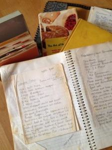 My Grandma's cook books and her kitchen bibles that have tried and tested recipes