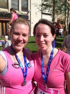 Myself and friend Sam at last years Race for Life in Sheffield - 39 minutes was our time.