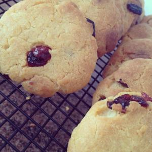 Gluten free white chocolate and cranberry cookies