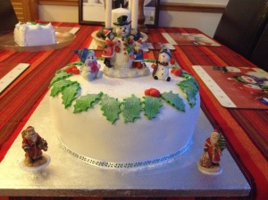 My finished gluten free Christmas cake that was inspired by my Grandmothers recipe
