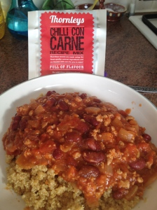 This Thornleys chilli con carne is tasty and tastes as though I had made the sauce from scratch.
