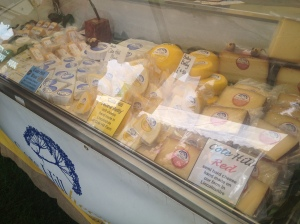 Cote Hill farm made a range of both soft and hard cheese from their own cows.