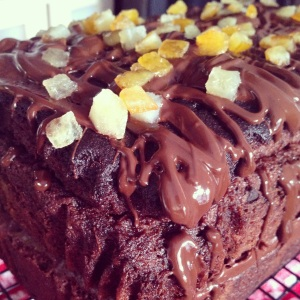 Gluten free chocolate and Cointreau cake makes a delicious grown up tea time treat or pudding. The cake tastes just like chocolate orange.