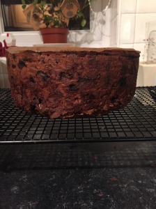 This years Christmas cake is now resting and being feed every two weeks with some brandy to keep it moist.